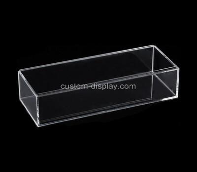 Custom long clear plexiglass display case