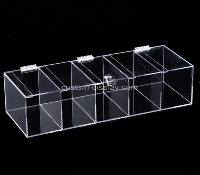 Custom 5 grids clear plexiglass display case