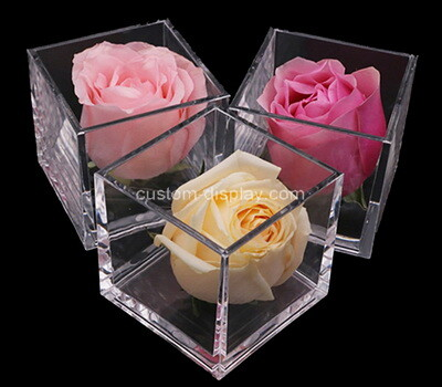 Custom square clear plexiglass display cases