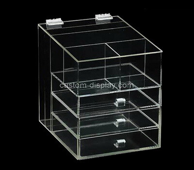 Custom clear plexiglass drawers organizer cases