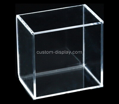 Custom clear plexiglass 5 sided box