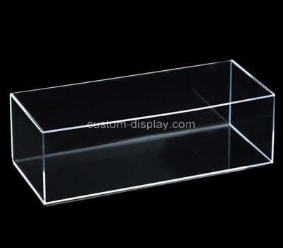Custom long clear plexiglass 5 sided box