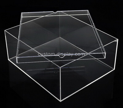 Custom clear plexiglass box with lid