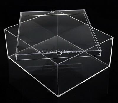 Custom clear plexiglass box with lid