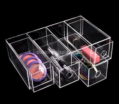Custom clear plexiglass 4 drawer cosmetic display boxes