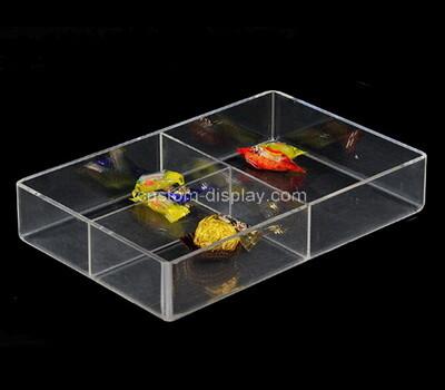Custom clear plexiglass 3 grids organizer boxes