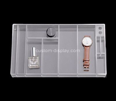 Custom clear plexiglass multi grids organizer boxes