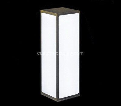 Custom restaurant hotel bar acrylic LED cube logo box