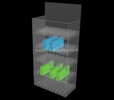 Custom 5 tiers multi grids acrylic display case