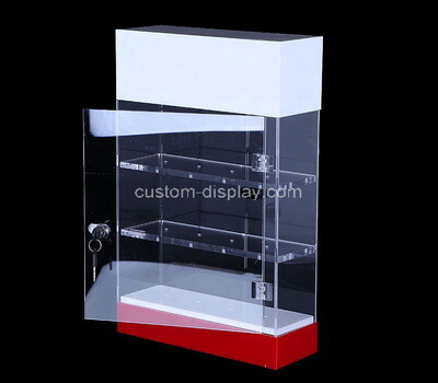 Custom acrylic lockable display case