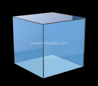 Custom square blue acrylic display case