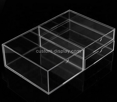 Custom clear acrylic 3 drawers display case