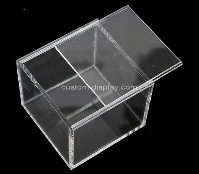 Custom clear acrylic sliding lid display case