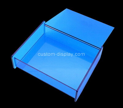 Custom blue acrylic display box with lid