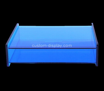 Custom blue acrylic display case