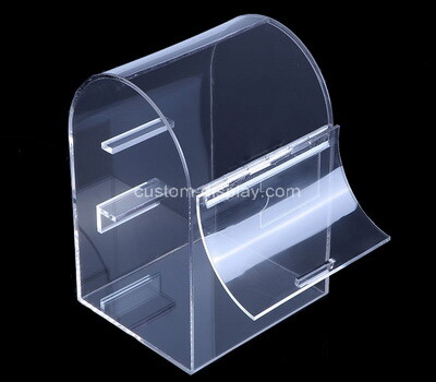 Custom clear arch shaped acrylic box with lid