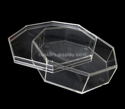 Custom octagon clear acrylic box with lid