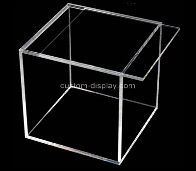 Custom square clear acrylic sliding lid box