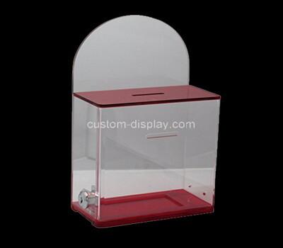 Custom acrylic lockable voting box