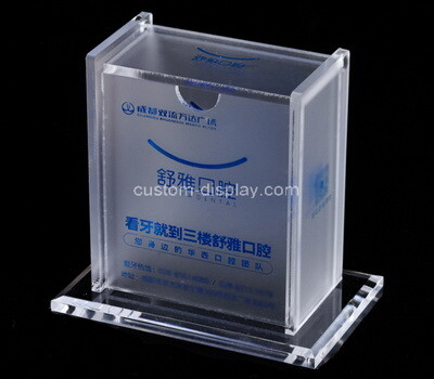 Custom acrylic business card box