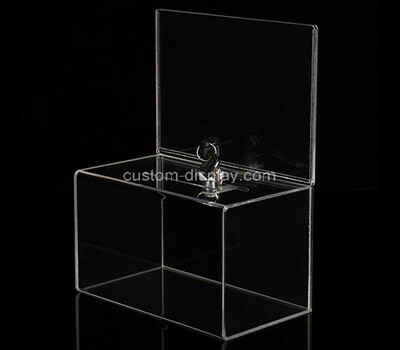 Custom clear acrylic suggetion locking box