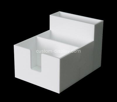 Custom 3 grids white acrylic organizer box