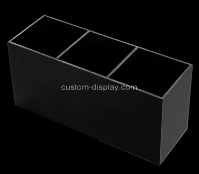 Custom 3 grids black acrylic organizer box
