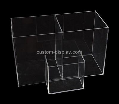 Custom 3 grids acrylic boxes