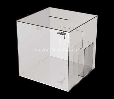 Custom acrylic suggestion box with brochure holder