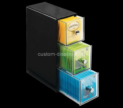 Custom acrylic 3 drawers teabags boxes