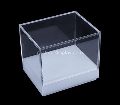 Custom acrylic display box with base