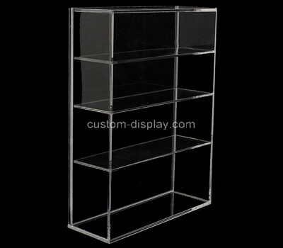 Custom clear acrylic 4 tiers display cabinet