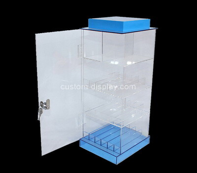 Custom plexiglass 4 tiers locking display cabinet