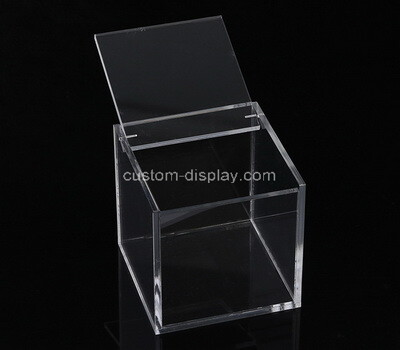 Custom square clear plexiglass display box with lid
