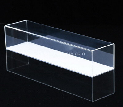 Custom 2 tiers clear perspex narrow display case