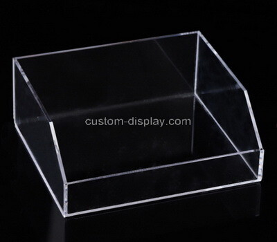 Custom front slanted clear perspex display case