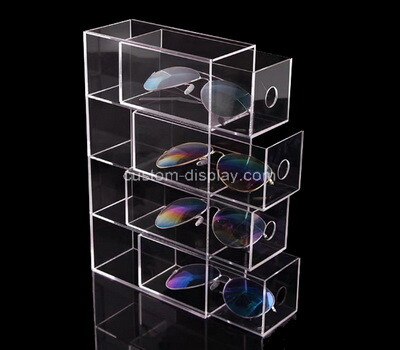 Custom clear perspex 4 drawers sunglasses boxes