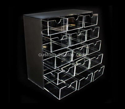 Custom perspex 15 drawers organizer boxes
