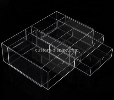 Custom clear perspex 2 drawer boxes