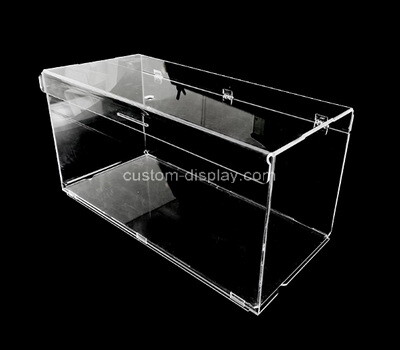 Custom clear perspex box with hinged lid