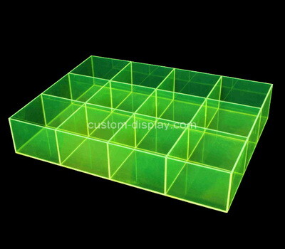 Custom green acrylic 12 grids dispaly boxes