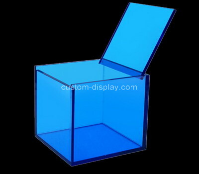 Custom square blue acrylic box