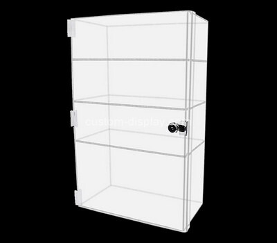 Custom 4 tiers lockable acrylic display cabinet