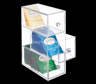 Custom acrylic 3 drawers tea bags boxes