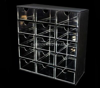 Custom acrylic 15 drawers cabinet