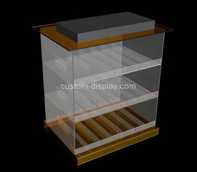 Custom 3 tiers perspex display cabinet