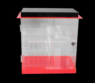 Custom perspex locking display cabinet