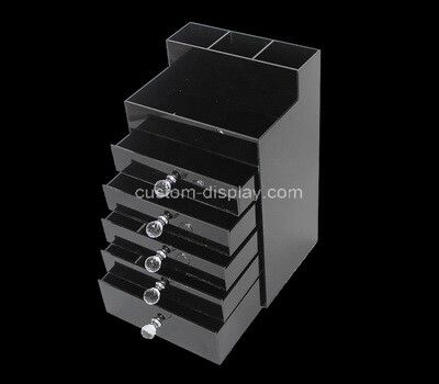 Custom black perspex 5 drawers box