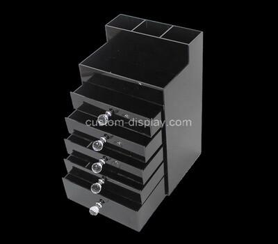 Custom black perspex 5 drawers box