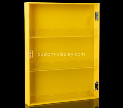 Custom 3 tiers narrow perspex display cabinet